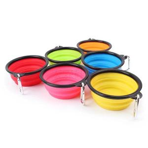 宠物狗硅胶折叠碗,硅胶碗,硅胶折叠碗
