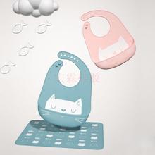 儿童硅胶口水兜,婴儿硅胶口水兜