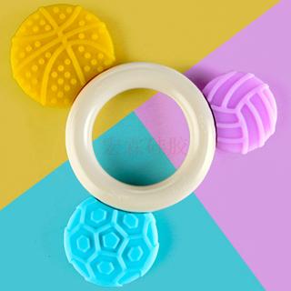廠家直銷新品嬰兒硅膠獨角獸甜甜圈牙膠,寶寶磨牙器卡通動物玩具