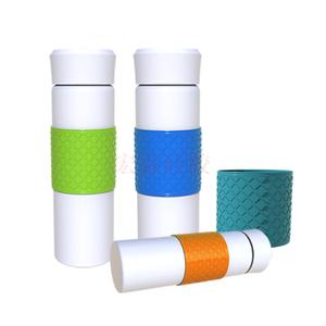 防滑耐温矽膠杯套 可定制多色硅胶水杯保护套 硅胶水杯套